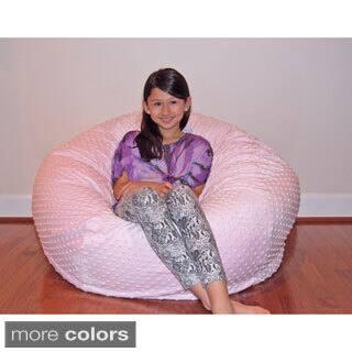 Cuddle Bubble 36 Inch Minky Soft Bean Bag Chair