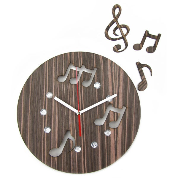 Hand-crafted 12-inch Music in the Air Clock