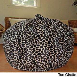 Faux Animal Fur Washable 36-inch Bean Bag Chair