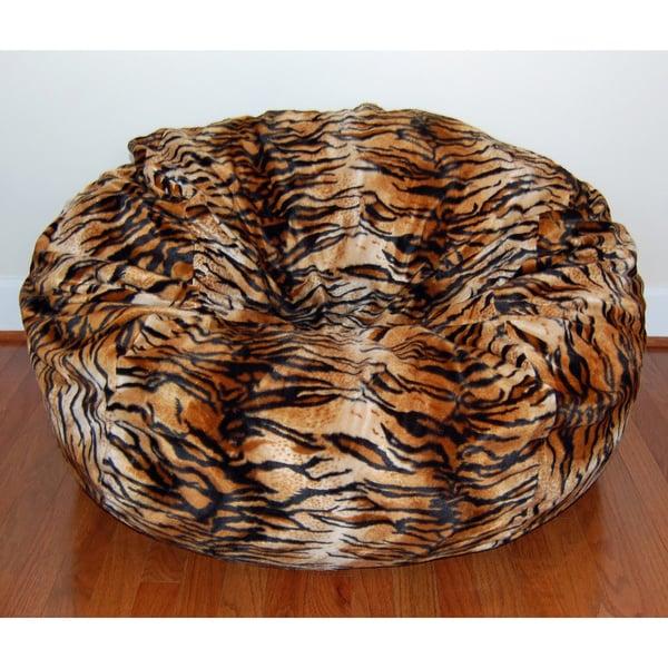 shop faux animal fur washable 36 inch bean bag chair on sale