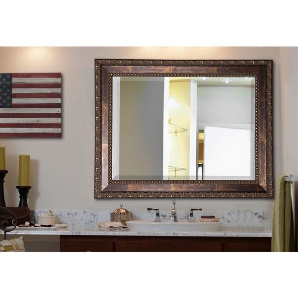 Bronze Wall Mirror american made rayne roman bronze wall/ vanity mirror - free