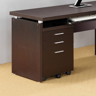 Cappuccino Hollow-core 3-drawer File Cabinet