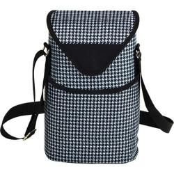 Picnic at Ascot Two Bottle Tote 13in Houndstooth