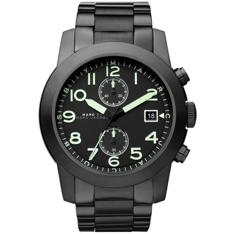 Marc Jacobs Men's 'Larry' Black Stainless Steel Watch