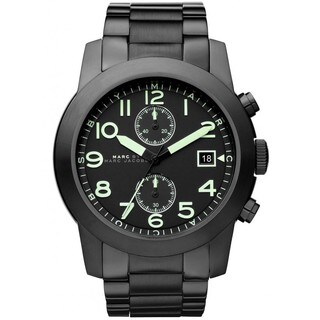 Marc Jacobs Men's MBM5032 'Larry' Chronograph Black Stainless Steel Watch