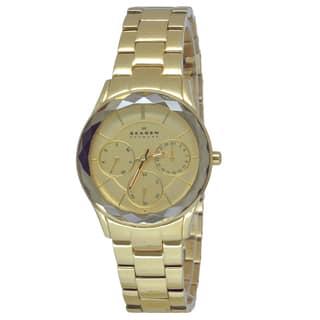 Skagen Women's 344LGXG Goldtone Stainless Steel Watch|https://ak1.ostkcdn.com/images/products/8968452/Skagen-Womens-344LGXG-Goldtone-Stainless-Steel-Watch-P16177392.jpg?impolicy=medium