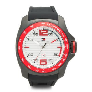 Tommy Hilfiger Men's 'Windsurf' 1790854 Black Silicone Watch|https://ak1.ostkcdn.com/images/products/8968457/Tommy-Hilfiger-Mens-Windsurf-1790854-Black-Silicone-Watch-P16177397.jpg?impolicy=medium