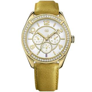 Tommy Hilfiger Women's 'Gracie' 1781250 Goldtone Leather Watch|https://ak1.ostkcdn.com/images/products/8968458/Tommy-Hilfiger-Womens-Gracie-1781250-Goldtone-Leather-Watch-P16177398.jpg?impolicy=medium