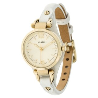 Fossil Women's 'Georgia' White Leather Watch