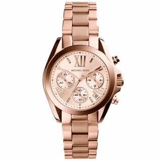 Michael Kors Women's 'MK5799 Bradshaw Mini' Rose Goldtone Watch