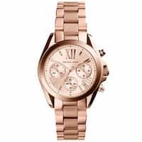 Michael Kors Women's ' Bradshaw Mini' Rose Goldtone Watch