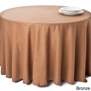 Classic Shimmer Linen Blend Round Tablecloth