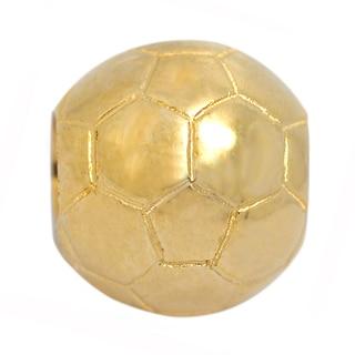 De Buman Sterling Silver Soccer Ball Charm Bead
