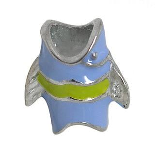 De Buman Sterling Silver Enamel Fish Charm Bead