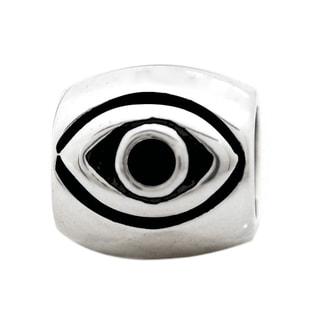 De Buman Sterling Silver Evil Eye Charm Bead