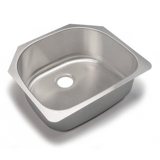 Designer Collection 23.75-inch 18-gauge Single Half-moon Bowl Kitchen Sink