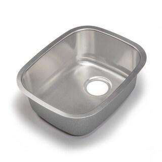 Designer Collection 15.25-inch 18-gauge Medium Single Bowl Kitchen Sink