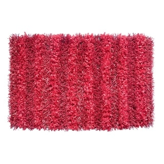 Hand-woven Sea Breeze Red Area Rug (1'9 x 2'10)