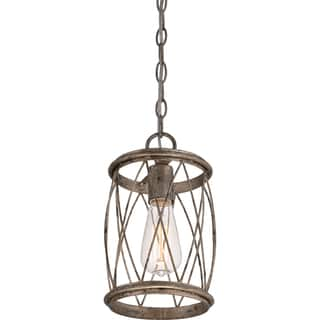 Buy quoizel pendant lighting online at overstock our best quoizel dury single light silver leaf mini pendant aloadofball Image collections