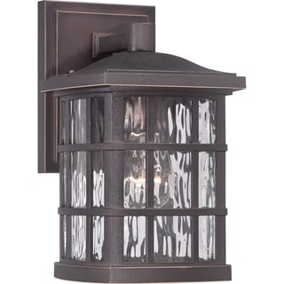 Quoizel Coastal Armour Stonington Palladian Bronze Small Wall Lantern