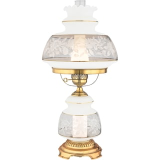 Quoizel Satin Lace Gold Polished Flem Finish 2-light Table Lamp