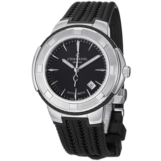 Charriol Men's CE443AB.173.004 'Celtica' Black Dial Black Rubber Strap Watch
