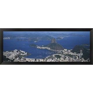 'Rio De Janeiro, Brazil' Framed Panoramic Photo