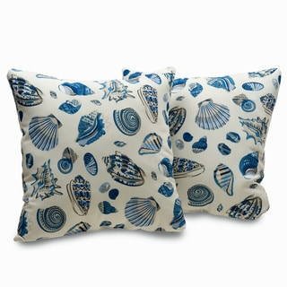 Sofies Cottage Shell Print 18-inch Decorative Throw Pillows (Set of 2)