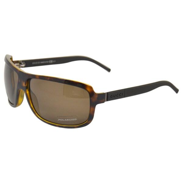 21037fdbca0 Shop Gucci Women s  GG 1638 S UY2  Brown Havana Polarized Sunglasses ...
