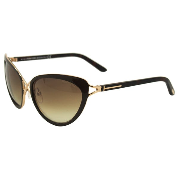 4e43f6fff5 Shop Tom Ford Women s  FT0321 Daria 28F  Gradient Brown Cat-eye ...