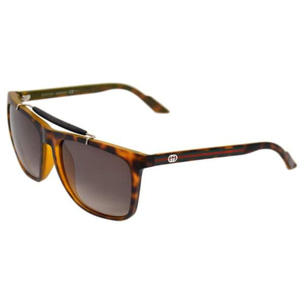 ad10ec3076b5f Shop Gucci Women s  GG 3140 S 791  Havana Sunglasses - Free Shipping ...
