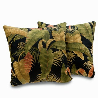 Kokomo Tropical Leaf Print 18-inch Decorative Throw Pillows (Set of 2)