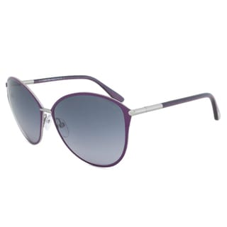 Tom Ford Women's 'FT0320 Penelope 14B' Shiny Light Ruthenium Sunglasses