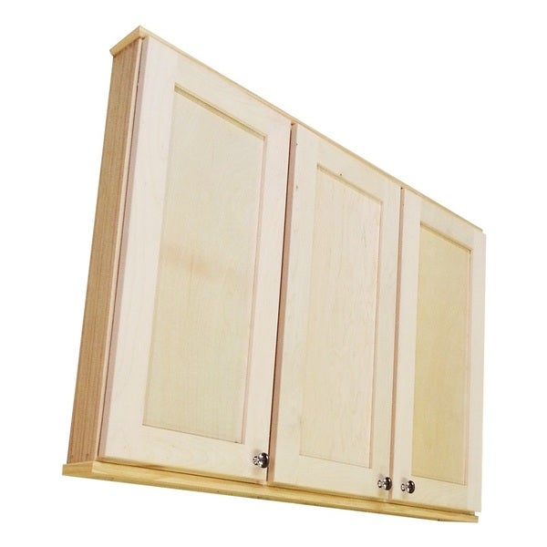 Shaker Series 36 Inch 5 5 Inch Deep Triple On The Wall Cabinet Free Shipping Today