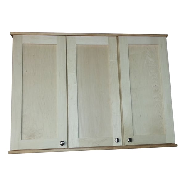 Shaker series 30 inch 5 5 inch deep triple on the wall for 30 inch deep kitchen cabinets