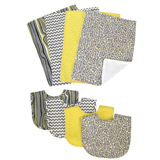 Trend Lab Hello Sunshine 8-piece Bib & Burp Cloth Set