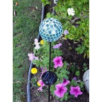 Tricod Solar-powered Blue Mosaic Color Changing Light (Set of 2)