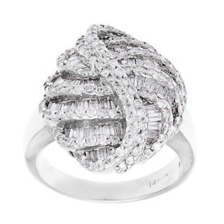 Pre-owned 14k White Gold 2 1/2ct TDW Diamond Estate Ring (H-I, SI1-SI2)