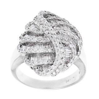 Pre-owned 14k White Gold 2 1/2ct TDW Diamond Estate Ring (H-I, SI1-SI2)