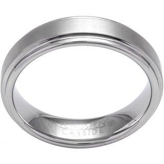 Cambridge White Tungsten Carbide Men's Satin Finish Comfort Fit Wedding Band