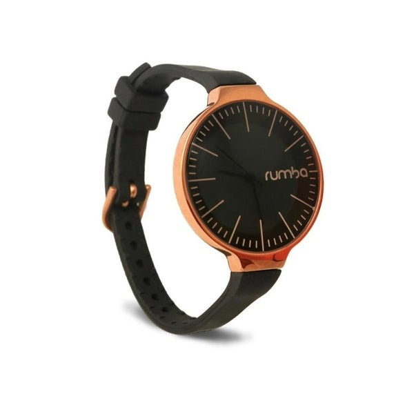 RumbaTime Orchard 35MM Rose Gold Lights Out Black Women's Watch