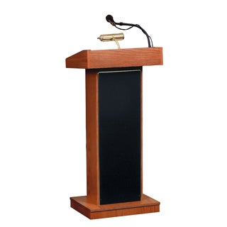 Orator Floor Lectern with Wireless Handheld Microphone