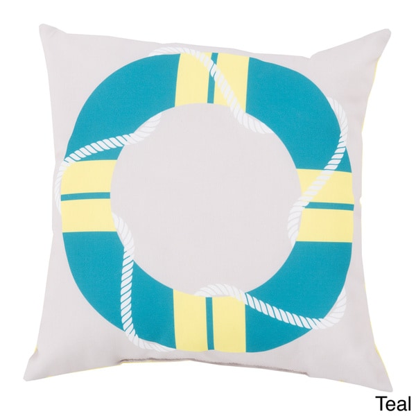 Life Saver Indoor/Outdoor Decorative Throw Pillow