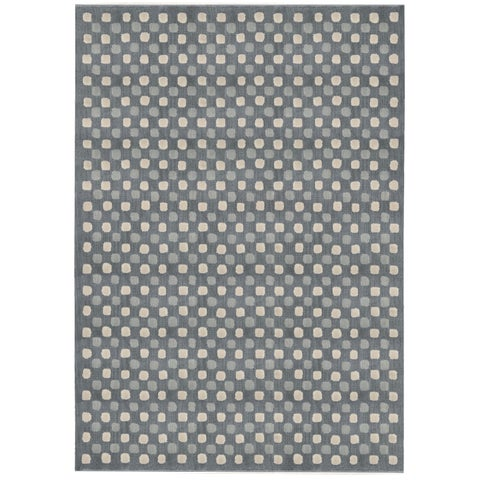 "Calvin Klein Nara Steel Grey Area Rug by Nourison - 7'9"" x 10'10"""