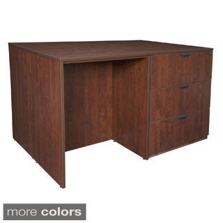 Stand Up 2 Lateral File/ 2 Desk Quad
