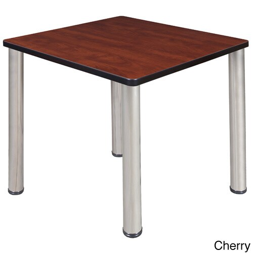 30-inch Kee Square Breakroom Table- Chrome Legs