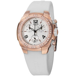 Alpina Women's AL-350LWWW2AD4' 'Avalanche' Rose Goldtone Diamond Chronograph Watch