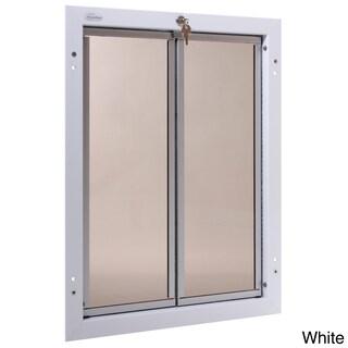 PlexiDor Performance Pet Door XLarge Door Mount (Option: XLarge, White, Door Mount)