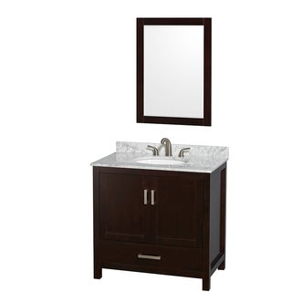 Wyndham Collection Sheffield Espresso 36-inch Single Vanity