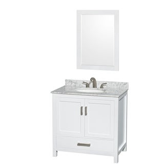 Wyndham Collection Sheffield White 36-inch Single Vanity